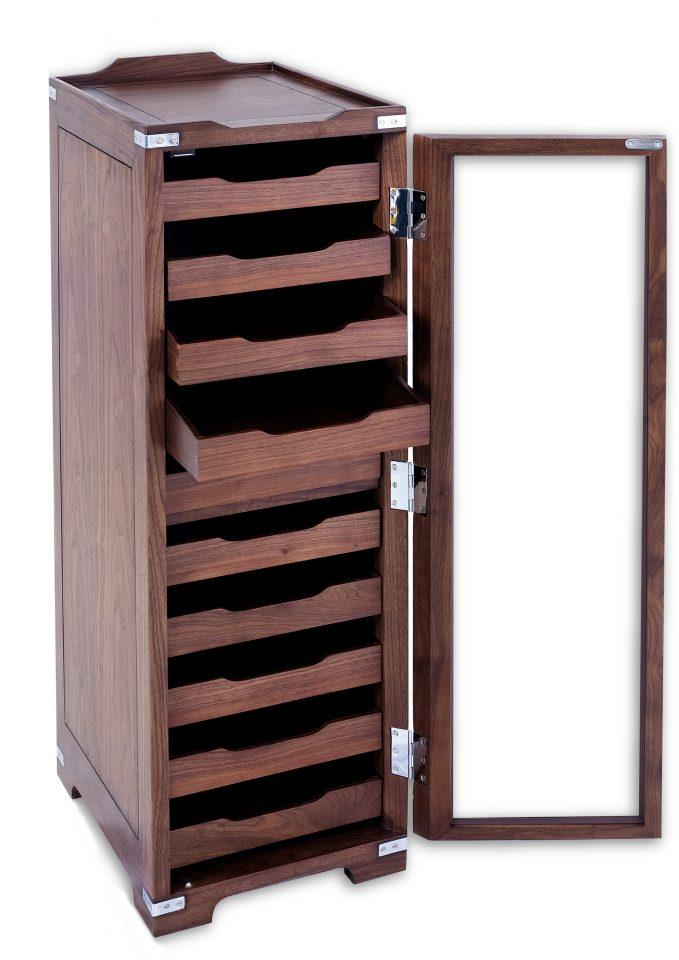 Storage Cabinet Ten Drawers Walnut
