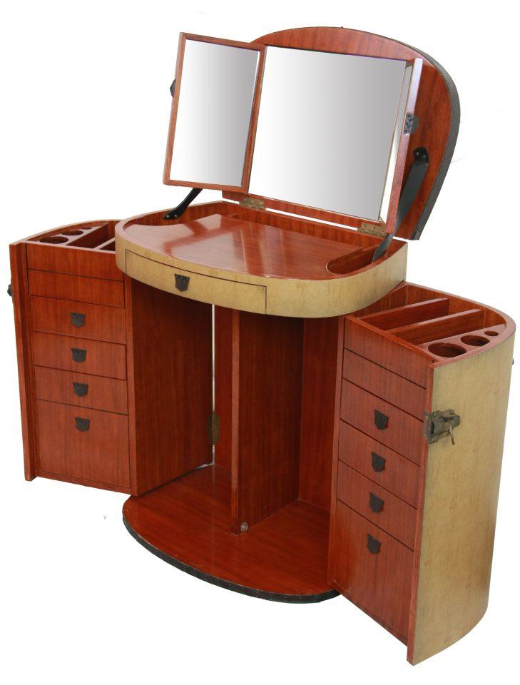 coiffeuse bois et toile enduite couleur sable marie galante. Black Bedroom Furniture Sets. Home Design Ideas