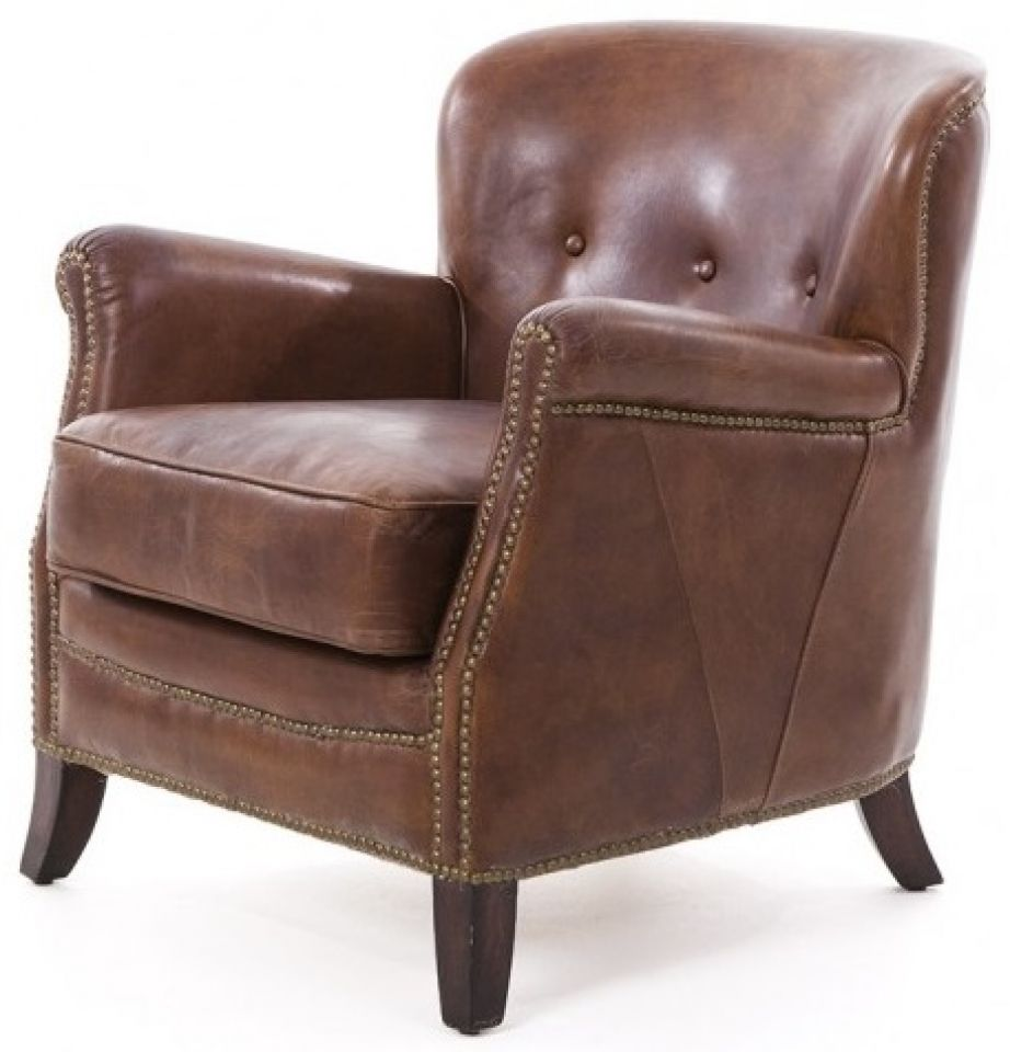 fauteuil club cuir marron cigare hemingway. Black Bedroom Furniture Sets. Home Design Ideas