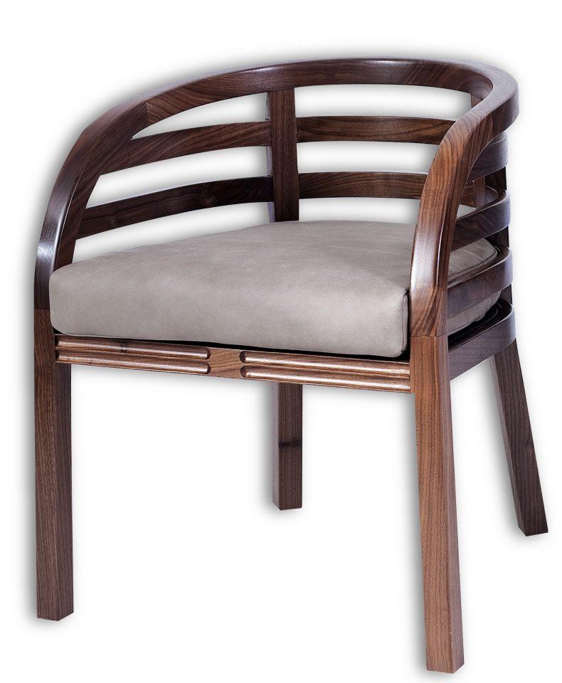 Fauteuil noyer noir moorea for Meuble fauteuil